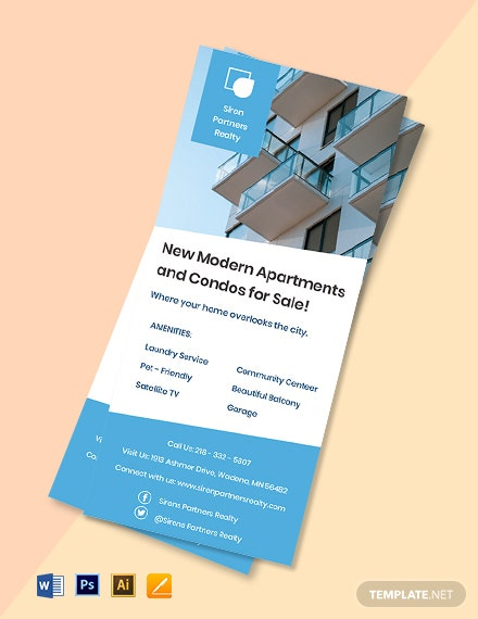Free Creative Real Estate Rack Card Template