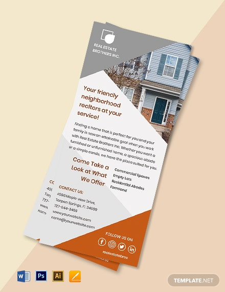 Real Estate Marketing Rack Card Template