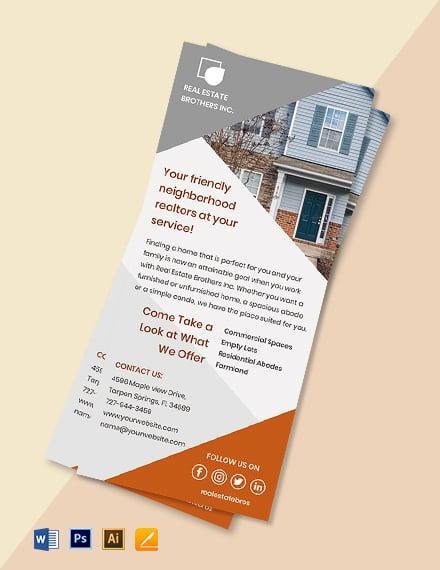 Real Estate Marketing Rack Card Template