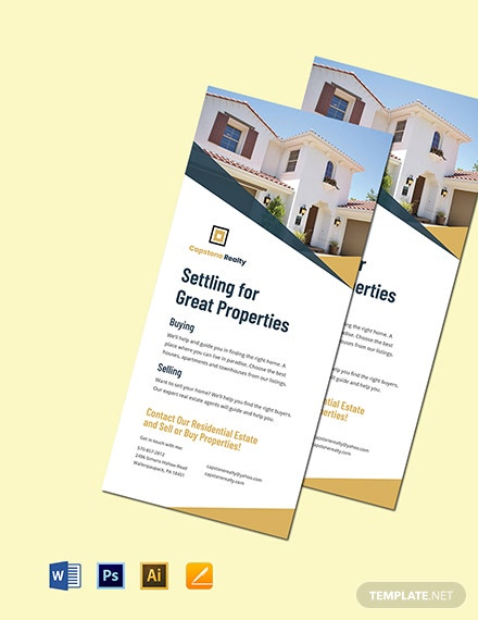 Real Estate Promotional Rack Card Template