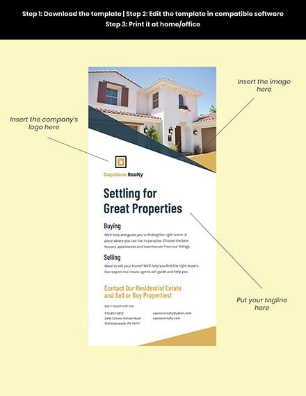 Real Estate Agent Rack Card editable