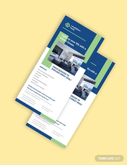 Real Estate Advertisement Rack Card Template Format