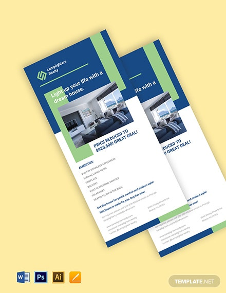 Real Estate Advertisement Rack Card Template