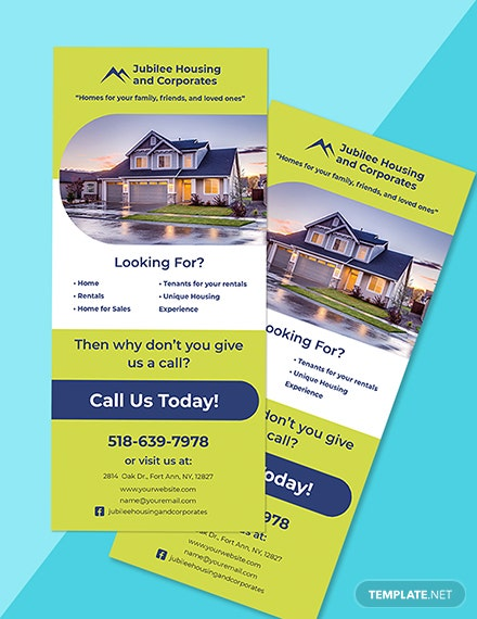Real Estate Development Rack card Template Format