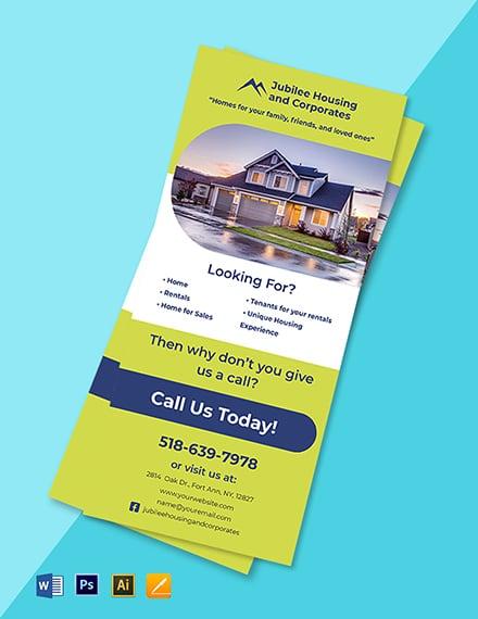 Real Estate Development Rack card Template