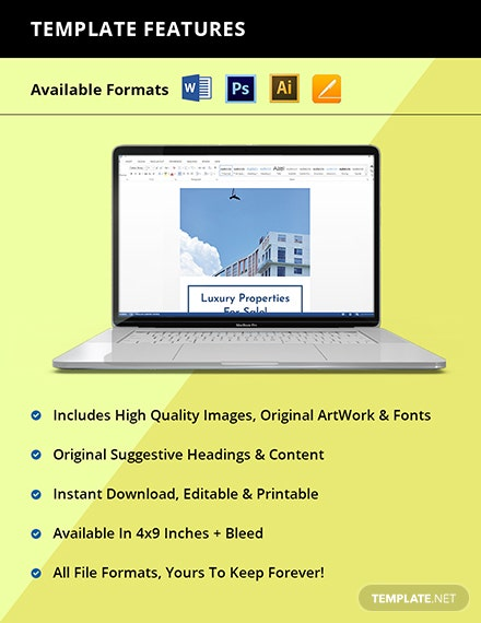 Luxury Real Estate Rack Card Template Instruction