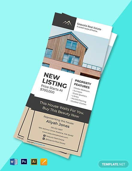 Free Elegant Real Estate Rack Card Template