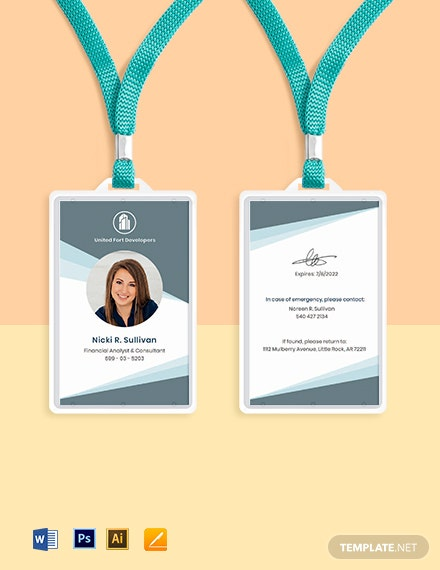 Free Creative Real Estate ID Card Template