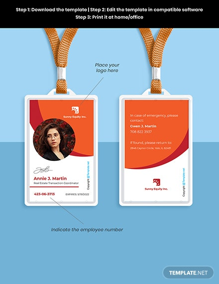 Free Sample Real Estate ID Card Template Format