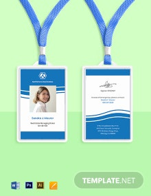 Real Estate Employee ID Card Template