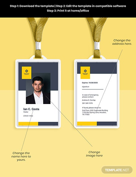 Real Estate Visiting ID Card Template Format