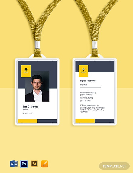 Real Estate Visiting ID Card Template