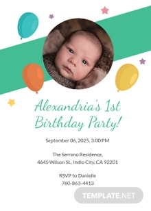 Free Kid's Birthday Party Invitation Template