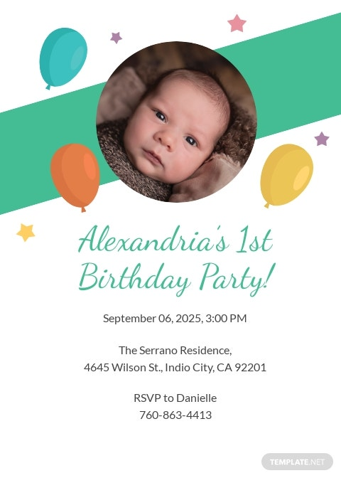Kid's Birthday Party Invitation Template