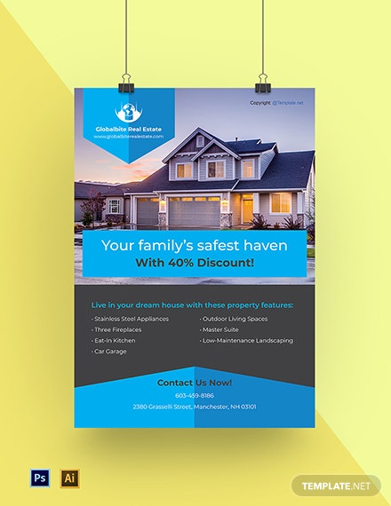 Free Modern Real Estate Poster Template