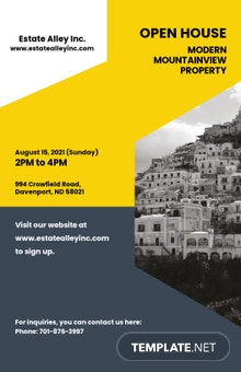 Free Creative Real Estate Poster Template