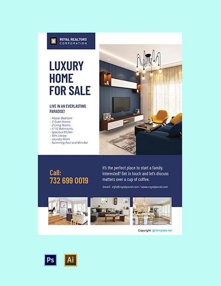 Free Elegant Real Estate Poster Template
