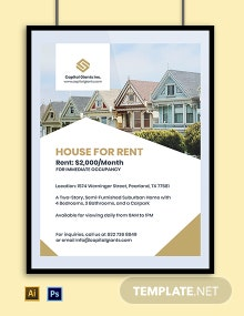 Real Estate Sales Poster Template