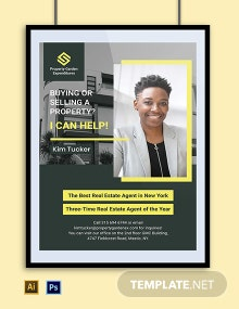 Real Estate Agent Poster Template