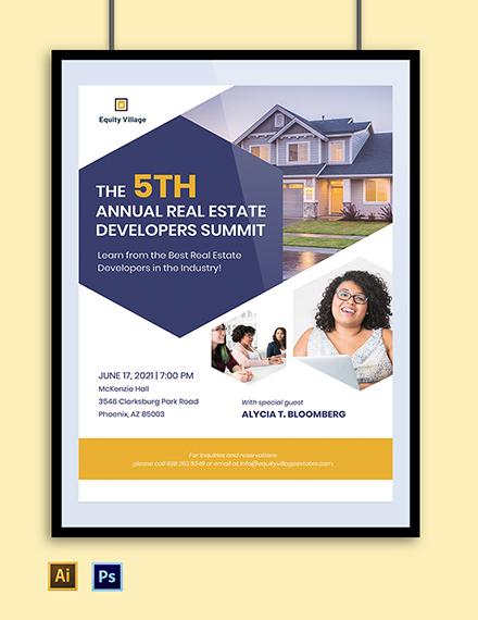 Real Estate Developer Poster Template