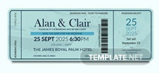Boat Boarding Pass Invitation Template
