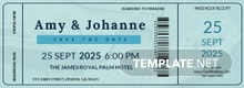 Free Boat Boarding Pass Invitation Template