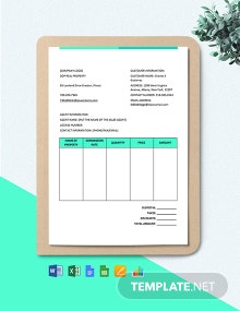 Real Estate Brokerage Commission Invoice Template