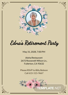 Free Retirement Party Invitation Template
