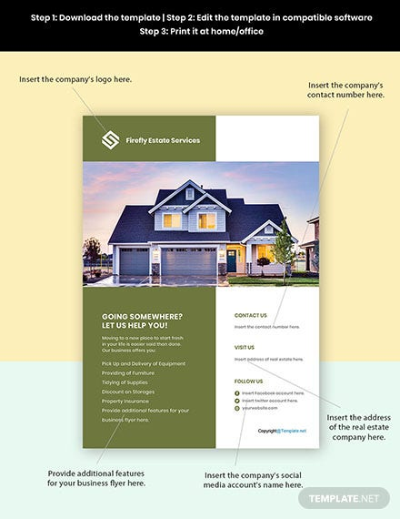 Free Professional Real Estate Flyer Templates Format