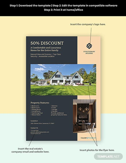 Free Luxury Real Estate Flyer Templates Format