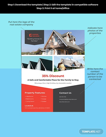 Real Estate Property Flyer Template Download