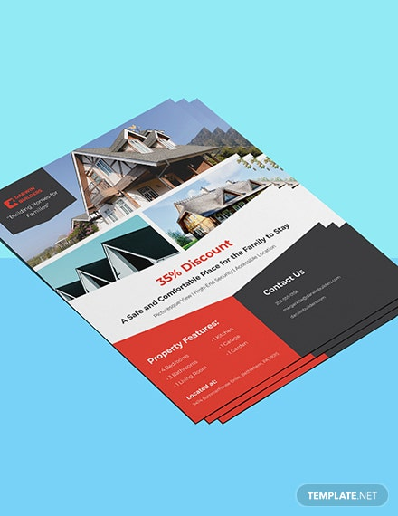 Real Estate Property Flyer Template Format