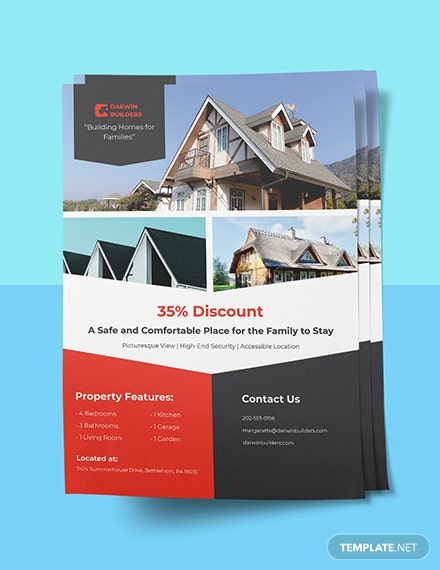 Real Estate Property Flyer Template Sample