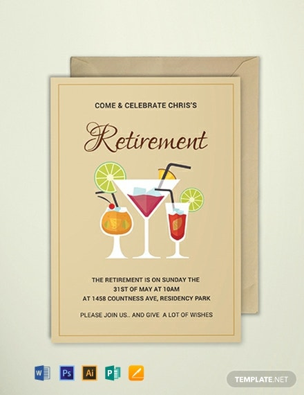 Free Printable Retirement Party Invitation Template Download 651