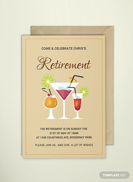 Free Printable Retirement Party Invitation Template