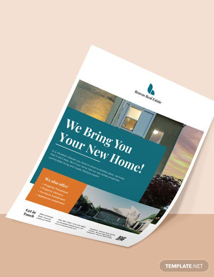 Printable Relocation Real Estate Flyer Template