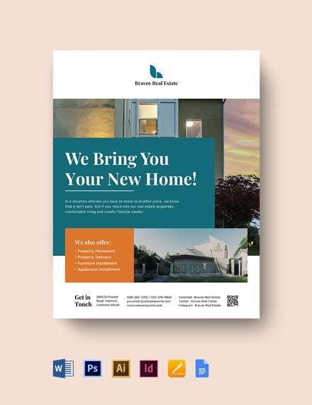 Relocation Real Estate Flyer