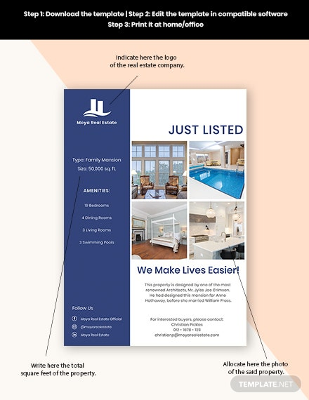 Open House New Listing Flyer Format
