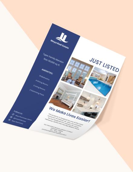 Open House New Listing Flyer Sample
