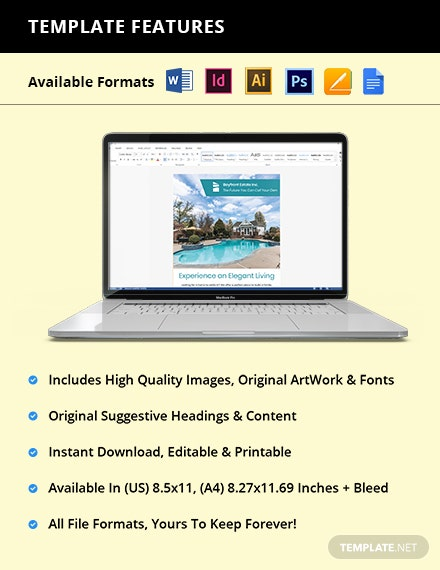 Real Estate Advertising Flyer Editable