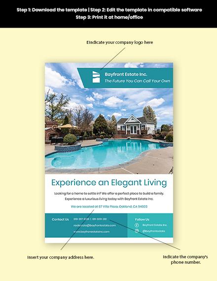 Real Estate Advertising Flyer Sample