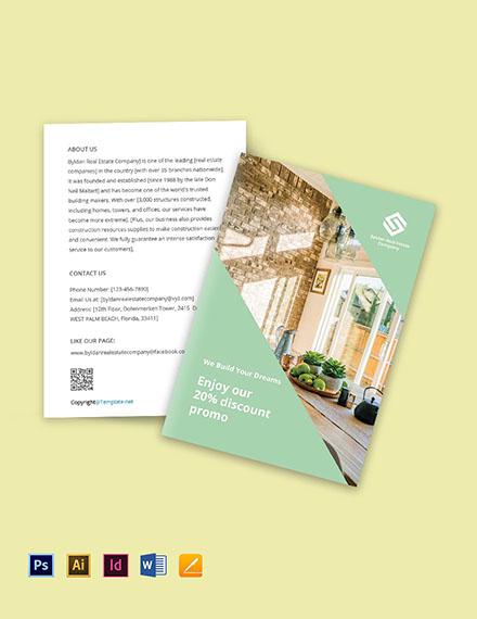 Free Bi-Fold Minimalist Real Estate Brochure Template