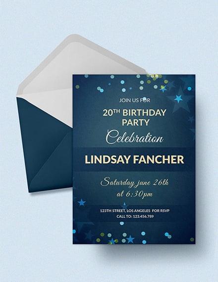 Free Simple Birthday Invitation Template
