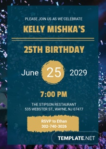 Free Modern Birthday Invitation Template