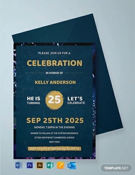 Modern Birthday Invitation Template