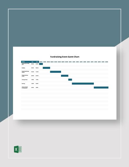 Fundraising Event Gantt Chart Template