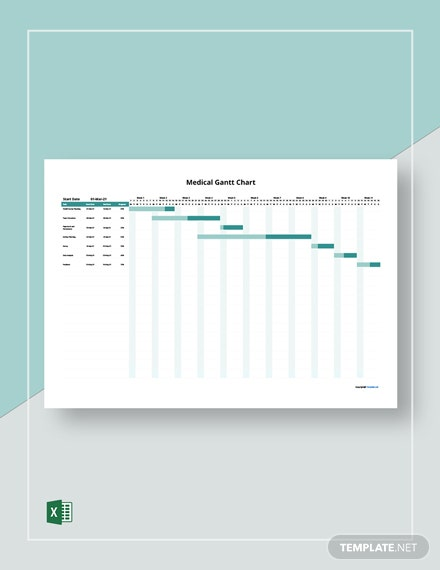 Free Simple Medical Gantt Chart Template