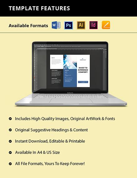Free Trifod Minimalist Real Estate Brochure Format