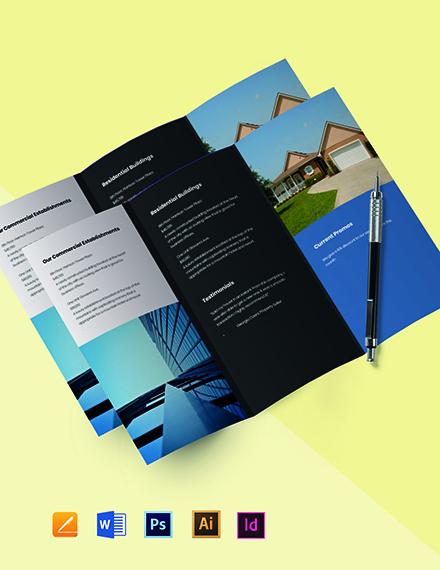 Free Tri-Fold Minimalist Real Estate Brochure Template