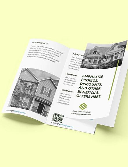 Free Trifold Landscape Real Estate Brochure Template Format
